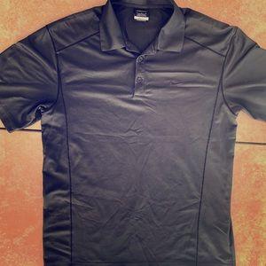 NWOT Nike Golf Men's Lrg Black Dri-Fit Polo Shirt